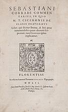 Cicero (Marcus Tullius).- Corradus (Sebastian) - Commentarius, in quo M. T. Ciceronis de claris oratoribus liber, qui dicitur Brutus,