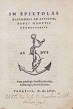 Cicero (Marcus Tulliius).- Manutius (Paulus) - ,