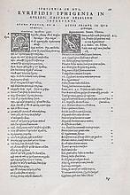 Euripides. - Euripidus poeta in Latinum sermonem conversus, adiecto eregione textu Graeco