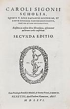 Sigonius (Carolus).- Livius (Titus) - Scholia,quibus T. Livii Patavini historiae...,