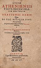 Lysias. - Orationes XXXIV,