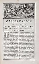 [Dantine (Maur), U. Durand and C.Clemencet]. - l'Art de vérifier les dates des faits historiques, des chartes