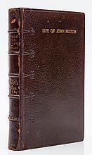 Milton (John).- [Toland (John)] - The Life of John Milton,