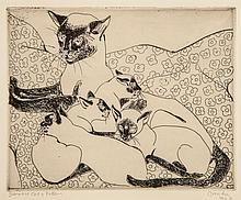 Pissarro (Orovida Camille, 1893-1968) - Siamese cat and kittens