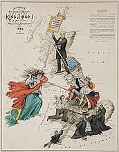 [Rose (Fred W.)] - The Avenger, an Allegorical War Map for 1877,