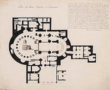Leisonier (Nicolas Auguste) - Plan du Saint Sepulchre à Jerusalem,