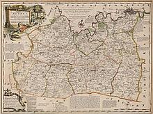 Surrey.- Bowen (Emanuel) - An Accurate Map of the County of Surrey; An Accurate Map of the County of Sussex,