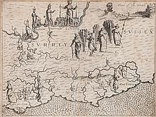 Drayton (Michael) - Map of Surrey and Sussex for the Poly-olbion,