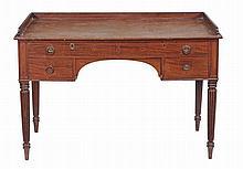 A George IV mahogany dressing table or desk, circa 1825