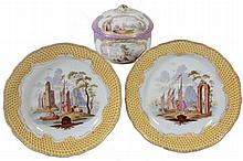 A Meissen round box and cover, late 19th century