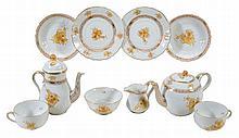 A modern Herend porcelain Chinese bouquet pattern tete a tete part tea service