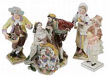 A pair of Berlin porcelain models of children, circa 1800, 15cm high