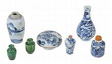 A small Chinese blue and white vase, Kangxi