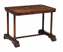 A George IV mahogany occasional table , circa 1825