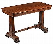 A William IV metamorphic library table, circa 1835