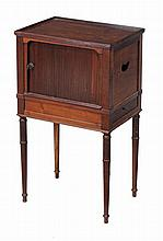 A mahogany bedside cupboard, first quarter 19th century
