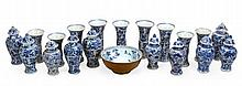 A collection of Chinese blue and white cargo wares