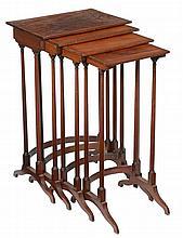 A nest of George IV mahogany quartetto tables , circa 1825