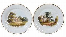 A pair of Wedgwood bone china saucer dishes, circa 1815