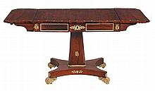 A Regency brass inlaid rosewood sofa table , circa 1815