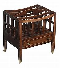 A mahogany Canterbury in George III style, 20th century