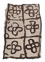 A Felt modern design rug , second half 20th century, approximately 216cm x 128cm
