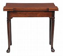 A George II mahogany folding card table, circa1740