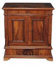 A North European burr walnut cupboard, 19th century
