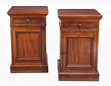 A pair of Victorian mahogany library cabinets , circa 1860