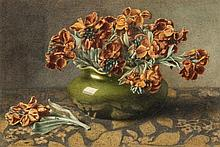Ella Worrall (1863-1946) - Still life of wallflowers