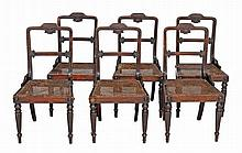 A set of simulated rosewood dining chairs, circa 1815
