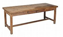 An oak farmhouse kitchen table, 19th century