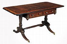 A Regency rosewood and gilt metal mounted sofa table, circa 1815