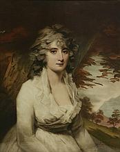 After Henry Raeburn - Portrait of Mrs H.W. Lauzun