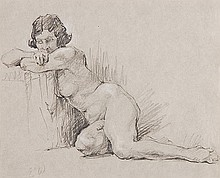 Attributed to Dame Ethel Walker (1861-1951). Study