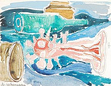 δ John Bratby (1928-1992). The Sea Creature.