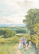 J. E. Buckley (fl.1843-1861). A stroll in Windsor