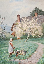 Joseph Kirkpatrick (1872-1936). A young girl