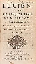 .- Lucien de Samosate. Lucien de la Traduction de N. Perrot, vol