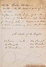 .- Medical Recipes, autograph manuscript, a few recipes attributed to