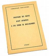 Christian Boltanski (b.1944) - Inventaire des Objets ayant Appartenu a une Femme de Bois-Colombes, 1974