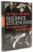 Dr. Erich Salomon (1886-1944) - Beruhmte Zeitgenossen, 1931