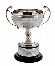 The Perpetual Challenge Cup, a silver twin handled trophy cup by Pinder Bros