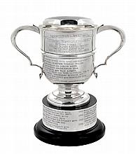 The Hendre Perpetual Challenge Cup, a silver twin handled trophy cup by...