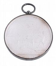Liverpool Agricultural Society, frosted and glazed silver prize medal...