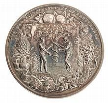 The Worshipful Company of Fruiterers, silver prize medal awarded 1922
