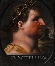 After Otto Octavius van Veen (1556-1629) - Portrait of the Roman Emperor Caligula; Galba; and Vitellius