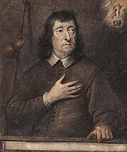 George Quinton (1779-1879) - Portrait of a Gentleman, traditionally identified as John Milton (1608-1678)