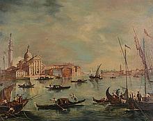 After Francesco Guardi (1712-1793) - View of San Giorgio Maggiore with the Giudecca and the Zitelle, Venice