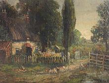 John Falconar Slater (1857-1937) - An idyllic country cottage